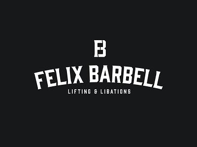 Felix Barbell logo wordmark monogram f b fb crossfit liquor gin