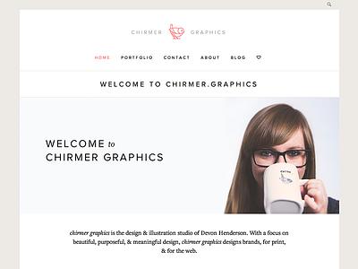 New website website wordpress portfolio flat coral bird mark line warm grey