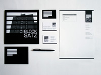 Blocksatz Branding