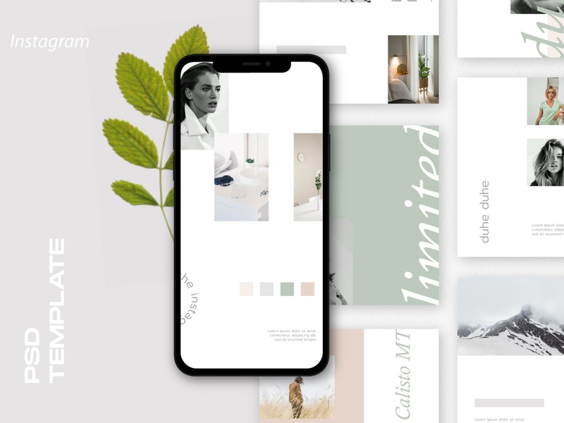 DUHE - Feed & Stories Instagram Template poster graphic isolated media social abstract competition business illustration icon vector design banner game instagram background template