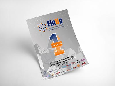 Poster Design branding finupevent poster