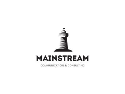 Mainstream brand logo lighthouse