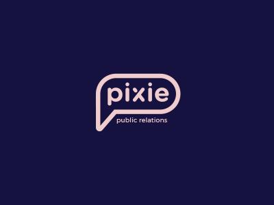 Pixie identity logo typography font design