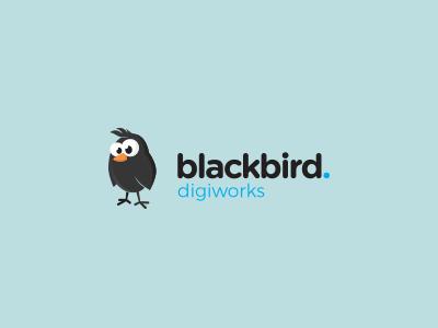 Blackbird DW identity funny logo bird