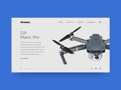 Drone Online Shop ux ui sire web drone