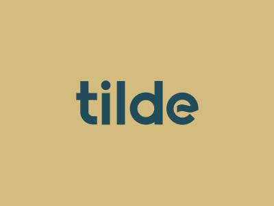 Tilde tilde logotype identity brand logo