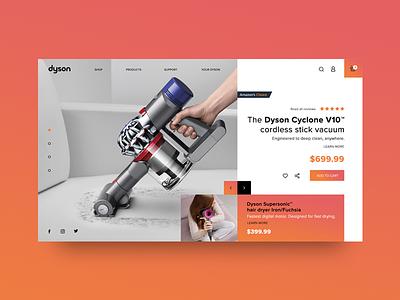 Dyson ux ui design user interface web
