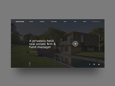 Smartland Website Design landing page real estate ux design ux  ui ux ui uidesign web