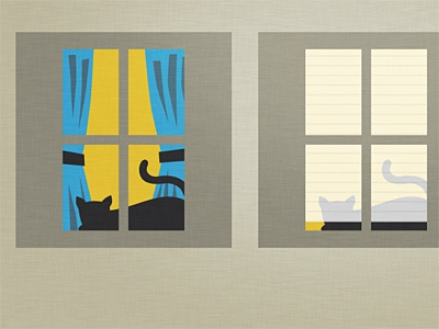 Drapes & Shades: window illustration for an infographic (WIP)