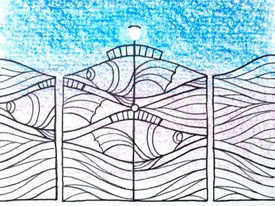 Imaginary Gates: Fish Gate landscape architecture architecture design illustration