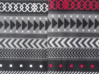Tribal Geometrics - black, white, red