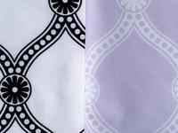 Exploring Ogee - black, white, lavender