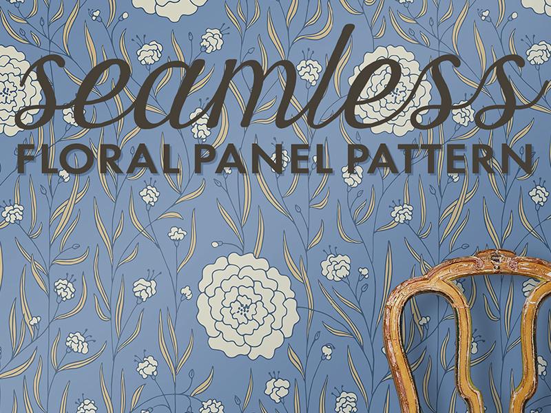 Dahlias Floral Pattern illustration surface design floral pattern interiordesign