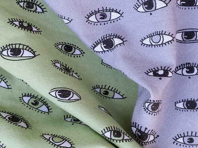 Eyes for fabric