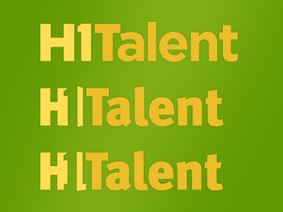 Logo: H1Talent Revision Ideas 2 logo typography