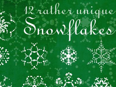 12 Rather Unique Vector Snowflakes