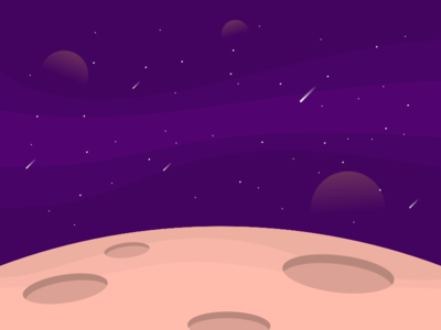 Purple Space Galaxy