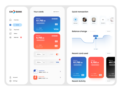 CIH Bank Web UI concept branding minimal design app ux ui