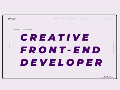 Portfolio Design typography minimal design webdesign website portfolio