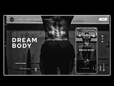 Gym Concept concept gym web design webdesign minimal website