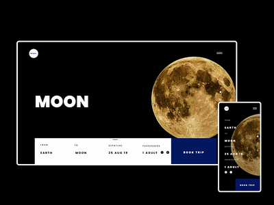 Space Post minimal concept web webdesign space website