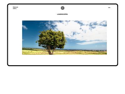 Interactive Gallery Landscapes Collection figma ux ui design website web web design minimal webdesign gallery