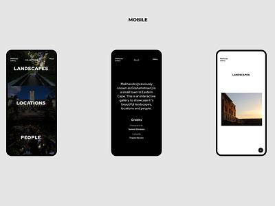 Makhanda Gallery webflow interaction design design gallery ui figma ux minimal website webdesign web