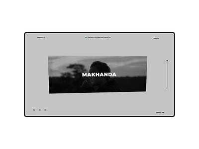 My Temporary Portfolio design minimal figma portfolio uxdesign uidesign uiux webdesign web design website web
