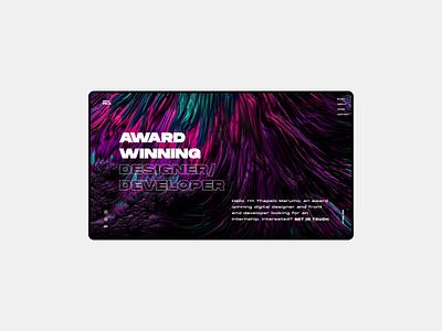 My Final Portfolio web website fullscreen ux ui figma webdesign portfolio
