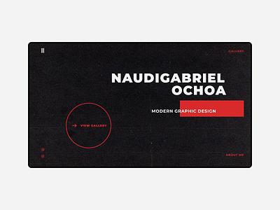 Naudesgn Portfolio gallery website web webdesign ux ui design web design minimal figma portfolio