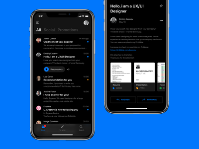 📪 Mail Client texture apple outlook fluent design fluent messages application email gmail email client inbox email app notification message mailbox ui design clean minimal app