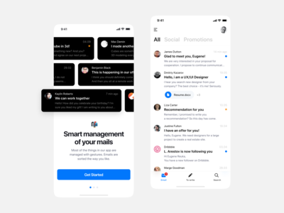 📬 Mail Client - light theme messenger message salo microsoft fluent mail inbox application apple app ui interface design concept app design app concept minimal app ui