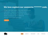 Website Header with fixed menu [free] Adobe Xd mockup