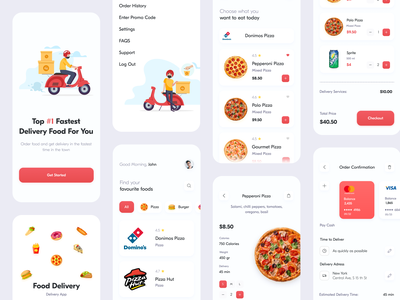 Food Delivery // Mobile App cook clean product dashboad food app service services burger pizza order delivery food application mobile mobile app mobile ui ui