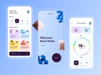 Smart House // Mobile App mobile design smart house startup interface mobile uiux smart smarthome mobile ui mobile app application app design product app mobile ui