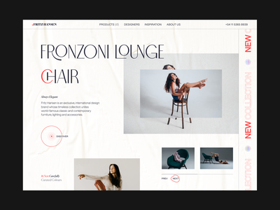 Fritz Hansen // Main Screen home screen home page ux ui web design shop store product minimalism minimal furniture main page webdesign web website