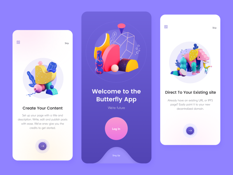 Butterfly // Mobile App design mobile design mobile ui mobile app application app design product app mobile ui