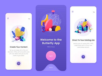 Butterfly // Mobile App design mobile design mobile ui mobile app application app design product app mobile ui