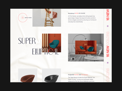 Fritz Hansen //   Home Page shopping layout interface service grid typography product scandinavian store shop chair furniture minimal home screen web design website web home page