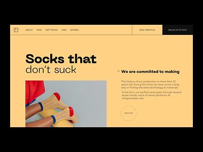 Happy Socks // Ecommerce Shop typogaphy minimalism minimal ecommerce design store shop product web socks animation ecommerce webdesign website