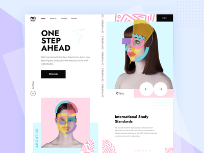 Studio ABC // Home page service startup ui ux product career job coach growth student education course study work business main homepage website web