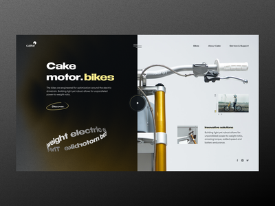 Cake Motor. Bikes // Main Screen ecommerce store shop ui ux product electric motor bike business main homepage website web