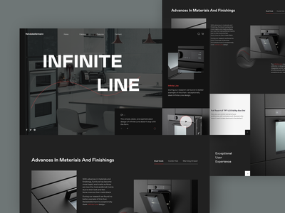 Infinite Line // Home page smarthome smart stove cooker cook product minimal ux ui store shop ecommerce main homepage website web