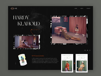 Concept of Photography Portfolio  // Main Screen photographer ux ui landingpage webdesign website design homepage main black portfolio web website