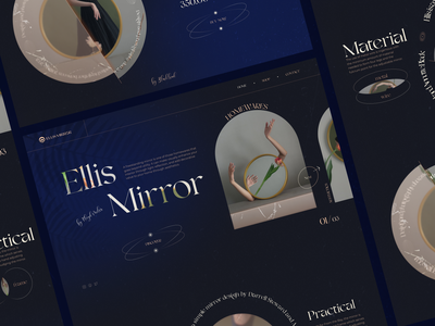 Ellils Mirror // Website mirrors mirror ux ui store shop product main homepage web webdesign website