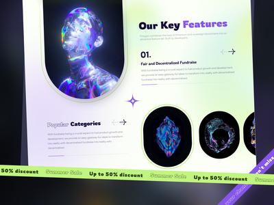 NFT Station // Landing Page crypto exchange crypto currency bitcoin main hero page landing page web design ux web ui crypto crypto website ethereum exchange cryptocurrency web crypto web tokens gradient blockchain nft
