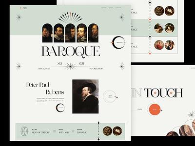 Baroque // Website event site design graphic design minimal grid blacklead art ux website landing page hero page main ui web