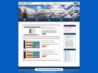 Insights Blog Design - Parent Company blog design blog designinspiration uiux website design website ux design uxdesign ux bazamiyat user interface design user interface ui web  design webdesign design