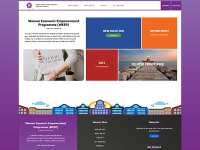 WEEP Homepage - 2021 women designinspiration home homepage design homepage bazamiyat uiux ux web  design webdesign user interface ui design