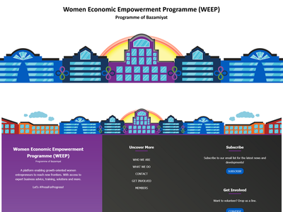 WEEP Footer/Social Media Graphic 2021 designinspiration artwork art graphicdesign empowerment women bazamiyat graphic graphic design vector art vector illustration design
